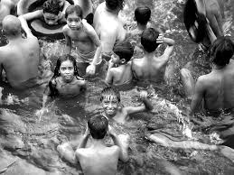 swimming in the river ganges
